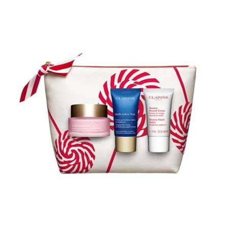 Clarins Multi-Active Jour 50 ml + Multi-Active Nuit 15 ml +Beauty Flash Balm 15 ml /Zestaw/
