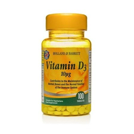 Holland & Barrett Witamina D3 10ug suplement diety 100 tabletek