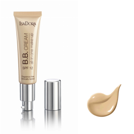 IsaDora BB Cream 10 light beige all-in-one make-up 35 ml SPF 12 - podkład do twarzy  +  [  G  R  A  T  I  S : MINI-MASKARA ISADORA ]