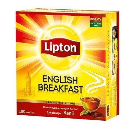Lipton English Breakfast herbata czarna 50 torebek 100g