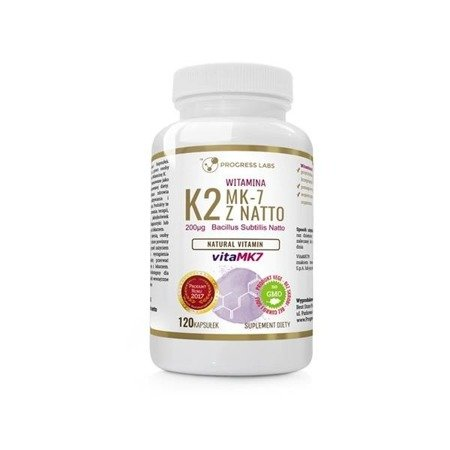 Progress Labs Witamina K2 vitaMK-7 z Natto 200µg suplement diety 120 kapsułek